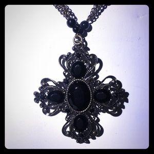 Gothic Cross Pendant Necklace